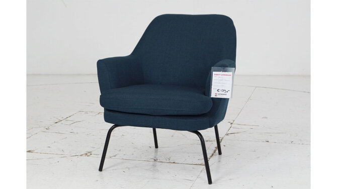 Fauteuil Yens Blauw - Outlet