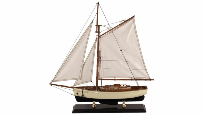 Miniatuur zeilboot 1930 Classic Yacht small AS134 | Authentic Models