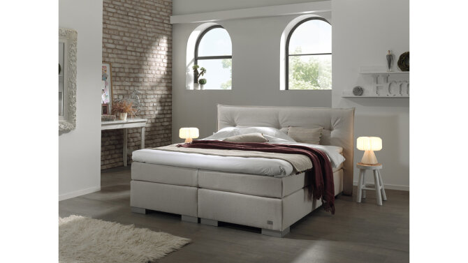 Boxspring Calor taupe/beige